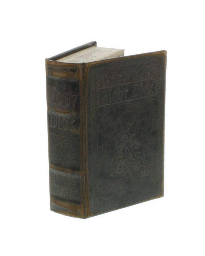 HomArt Maritime Embossed Book Box - Moby Dick - 6.75 in - Black