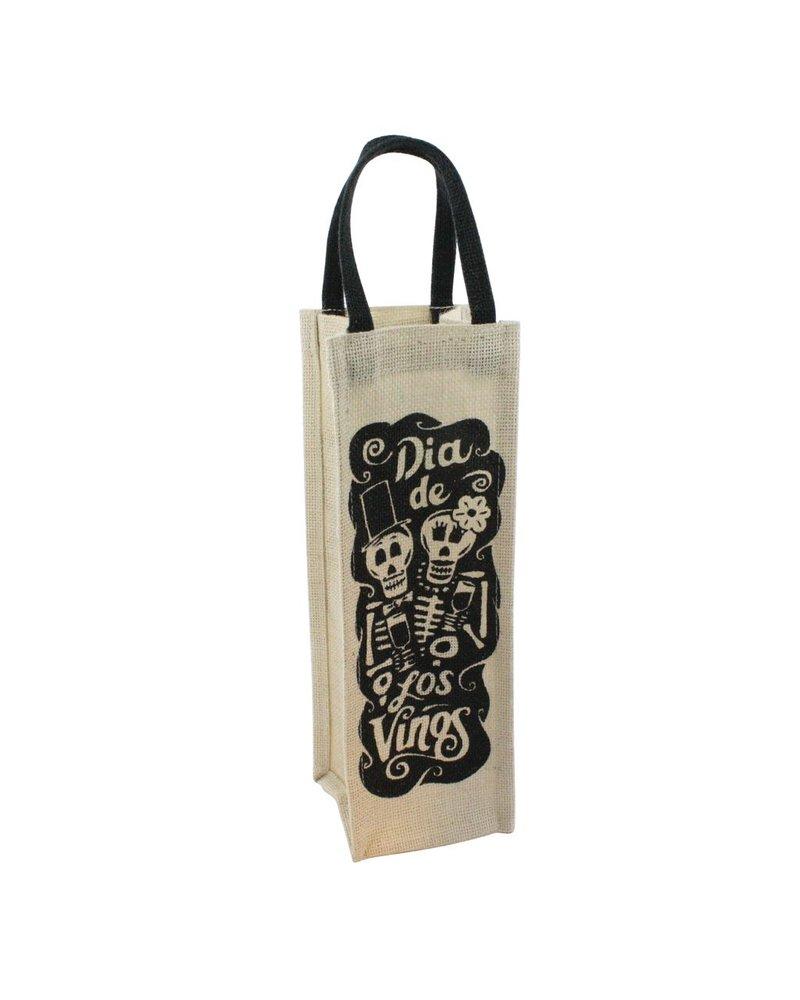 HomArt Wine Tote - 1 Bottle - Dia De Los Vinos