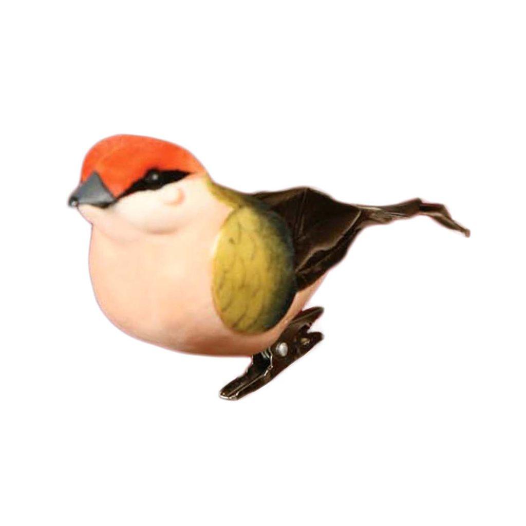 HomArt Bird on Clip - Set of 3 - Red Crossbill