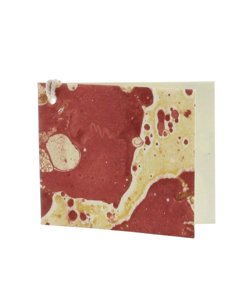 HomArt Red Marbleized Paper Gift Tag - Pack of 12