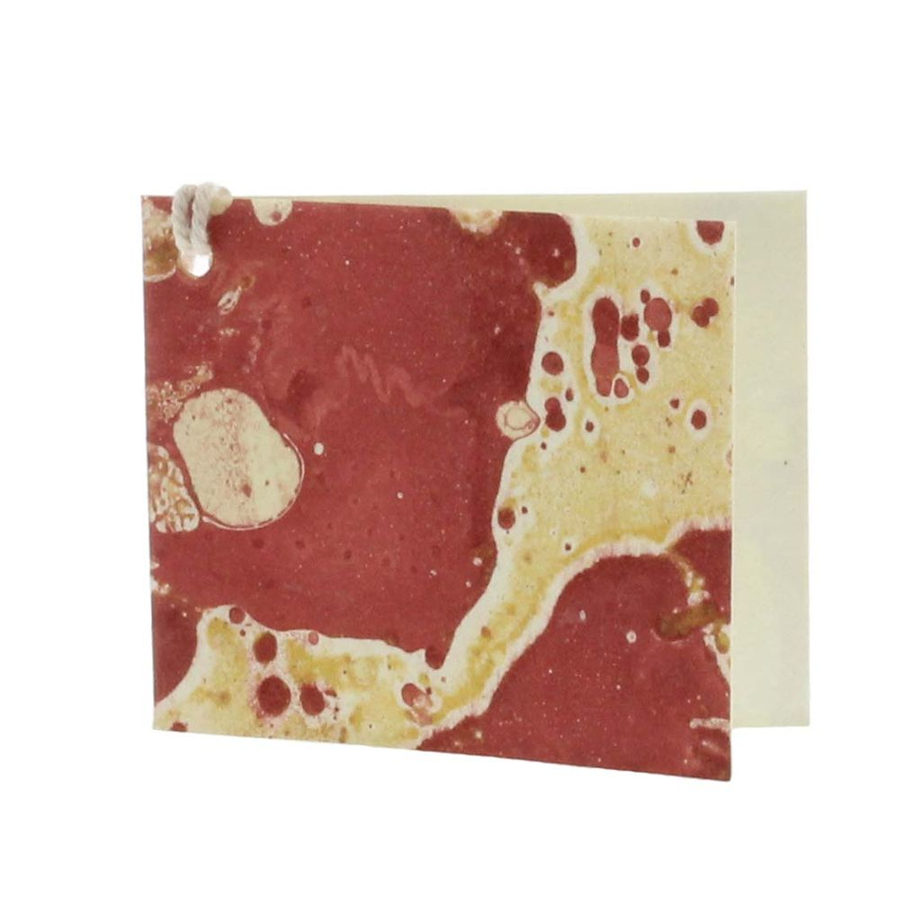 HomArt Marbleized Paper Gift Tag - Pack of 12 - Red