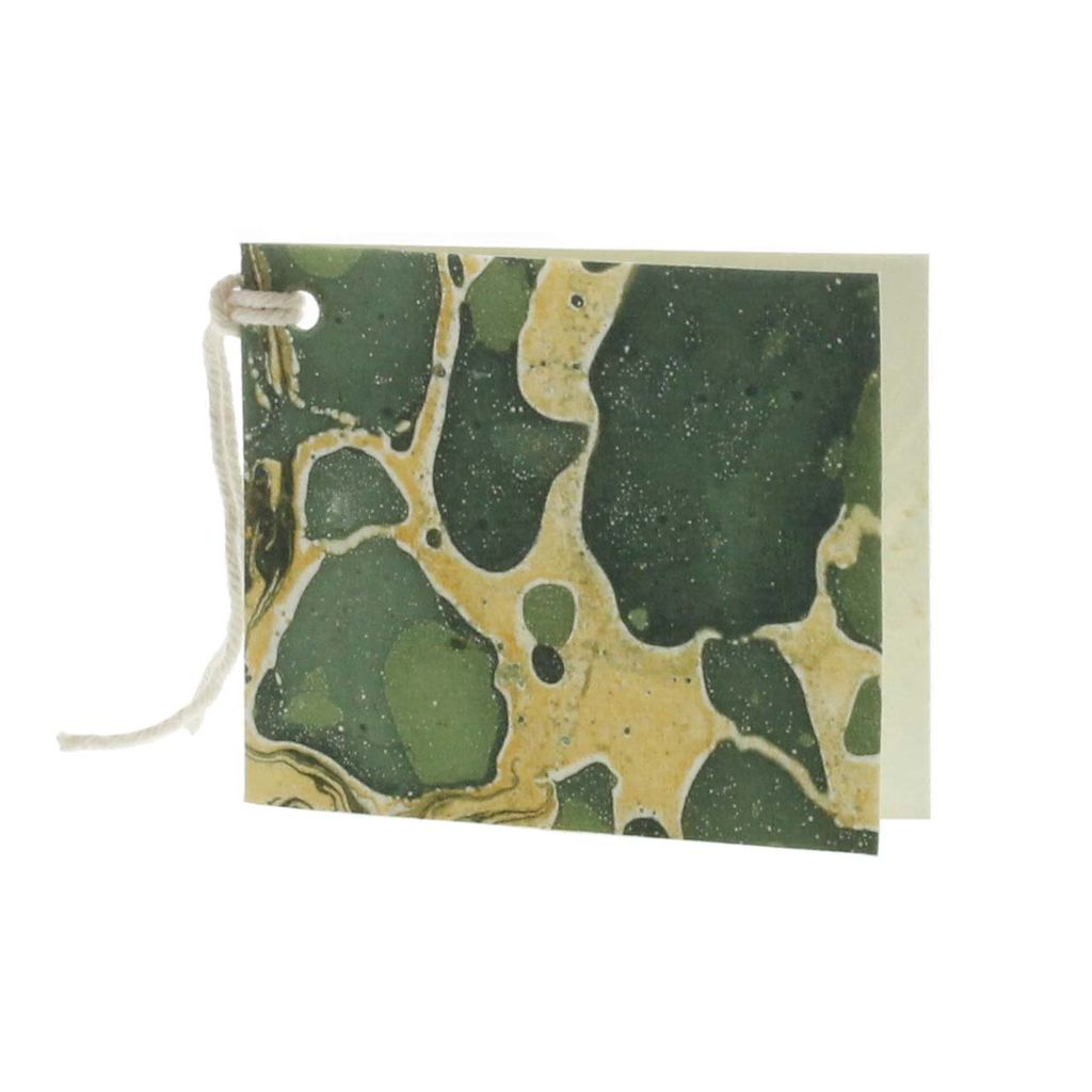 HomArt Marbleized Paper Gift Tag - Pack of 12 - Green