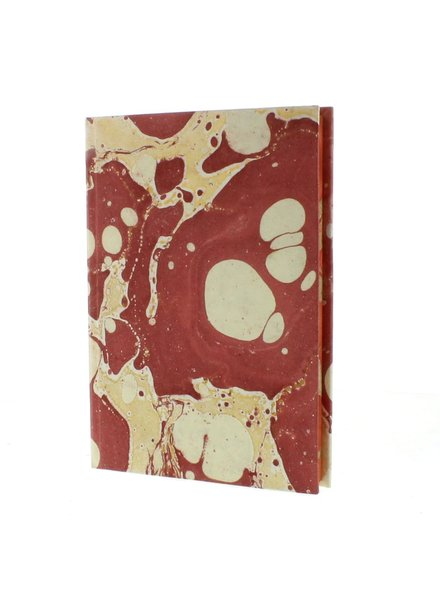 HomArt Marbleized Paper Journal - Red