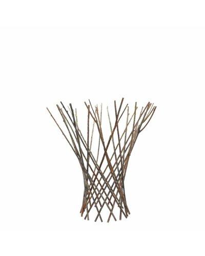 HomArt Flared Twig Trellis - Sm - Natural