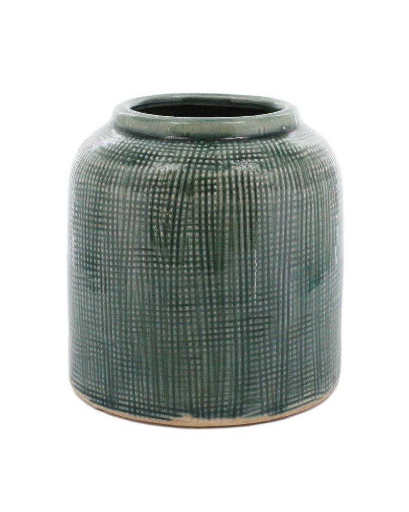 HomArt Ting Ceramic Pot - Sm - Lake Blue