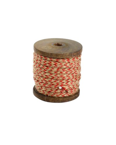 HomArt Spool of Jute - Sm - Braided Red-Natural