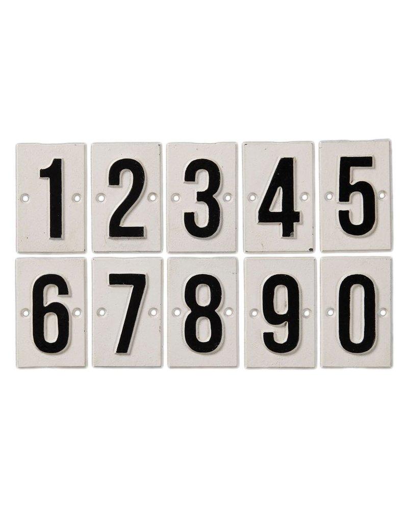 HomArt Cast Iron Signs - Number Set - 0-9 Three Each