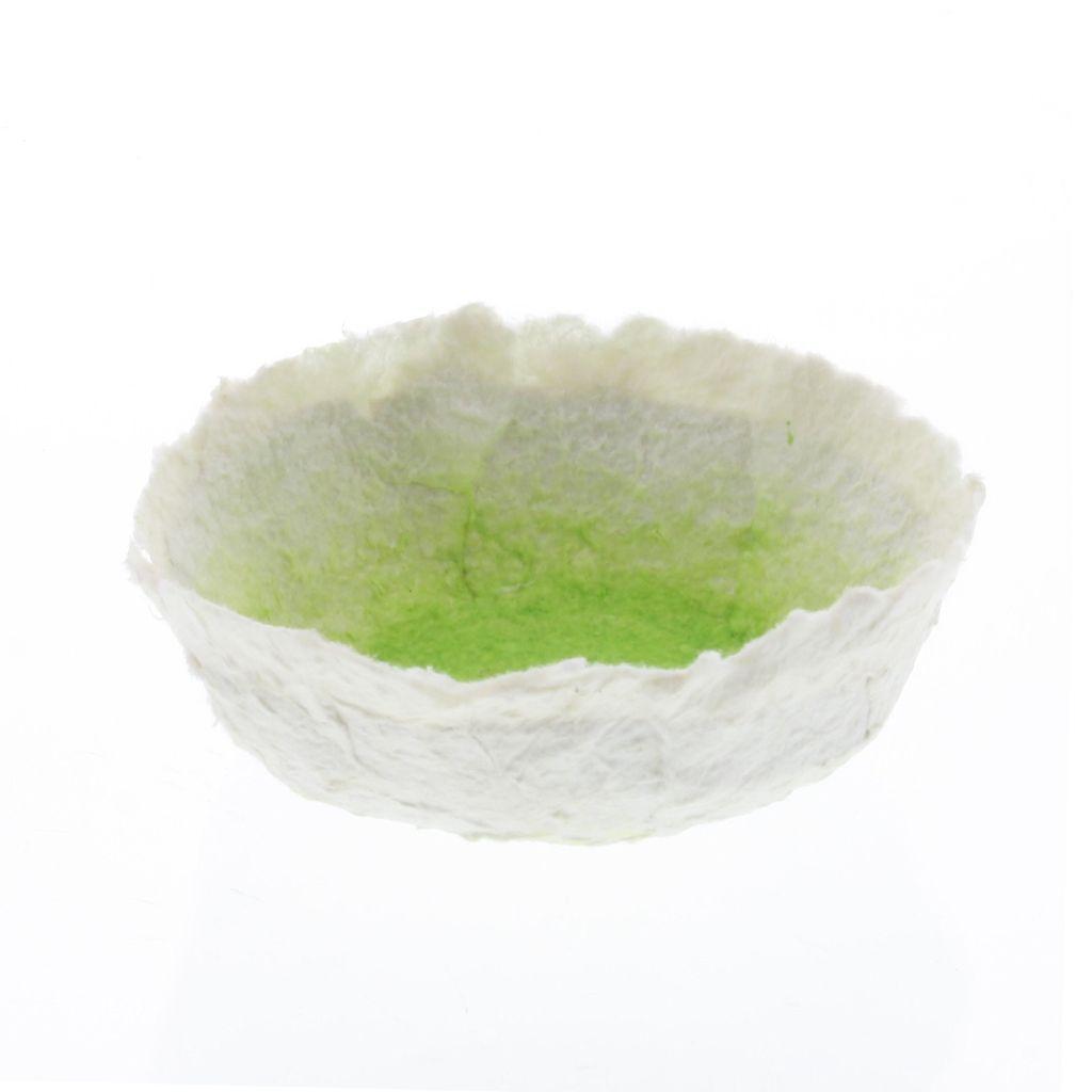 HomArt Paper Mache Low Bowl - Sm - Honeydew