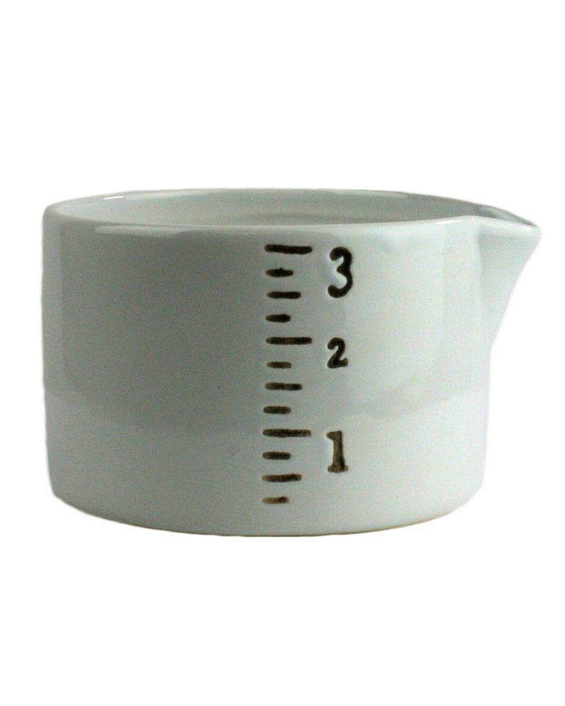 HomArt Ruled Ceramic Container - Sm - White-Black