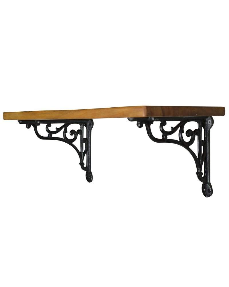 HomArt Vendome Shelf - 18 in - Black Brackets