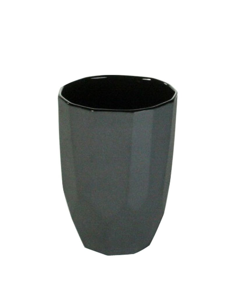 HomArt Quartz Faceted Ceramic Cup - Lrg - Black