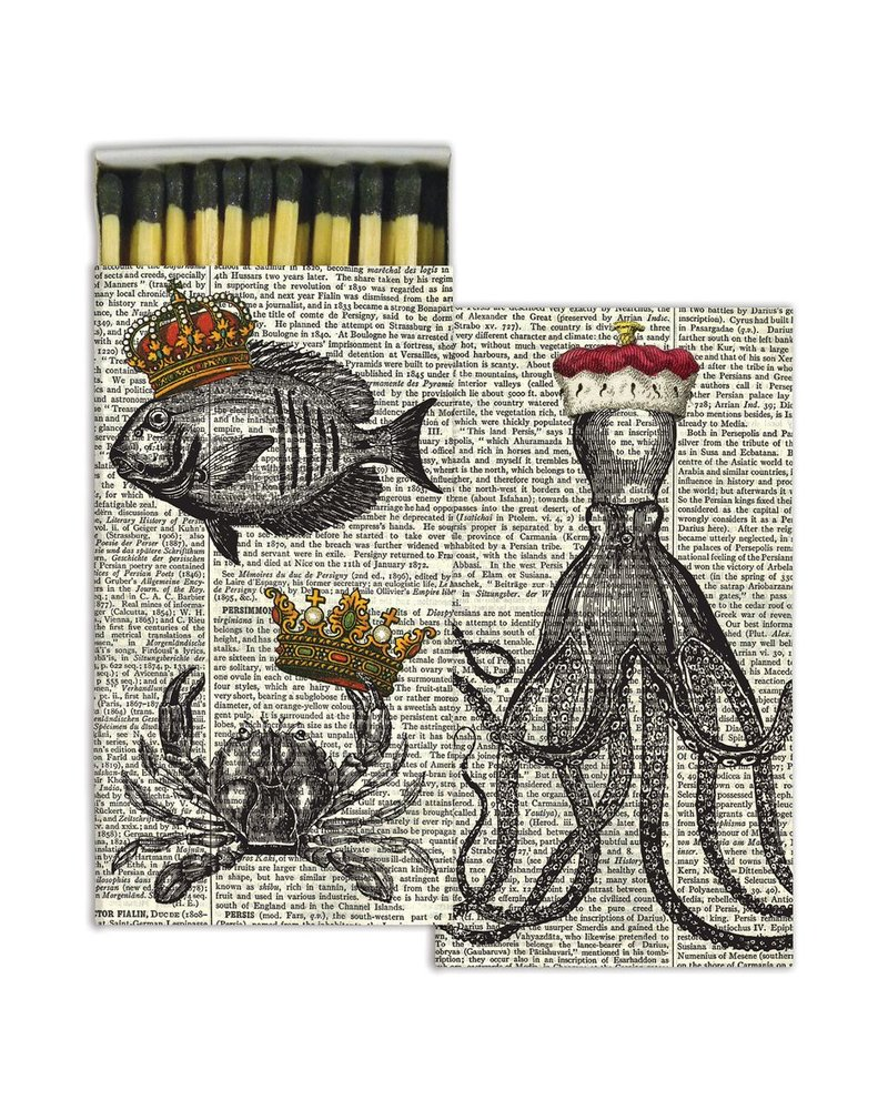 HomArt Royal Sealife HomArt Matches - Set of 3 Boxes