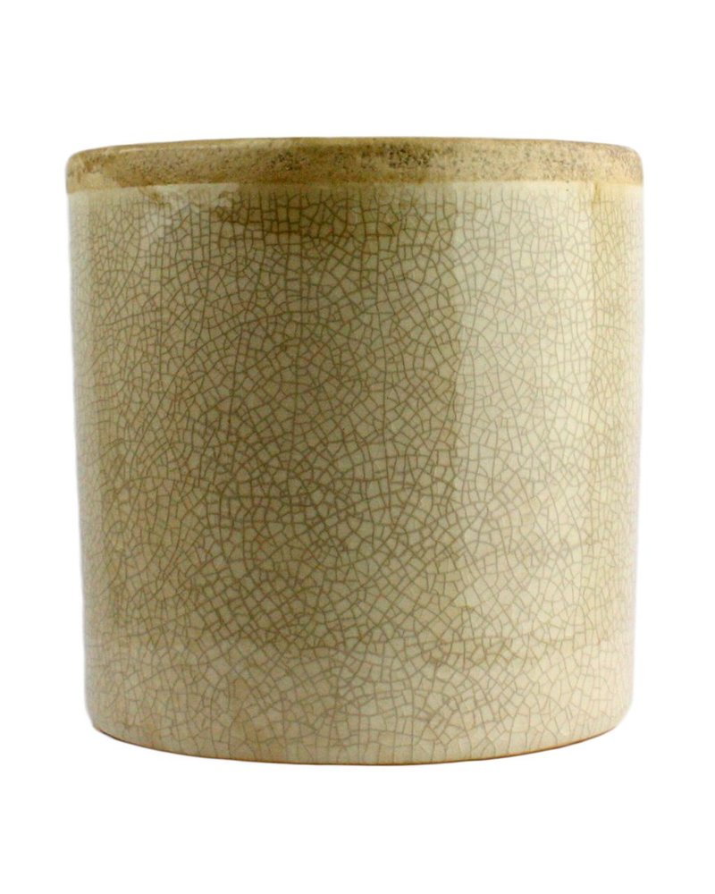 HomArt Mulberry Ceramic Cylinder Vase - Sm - White