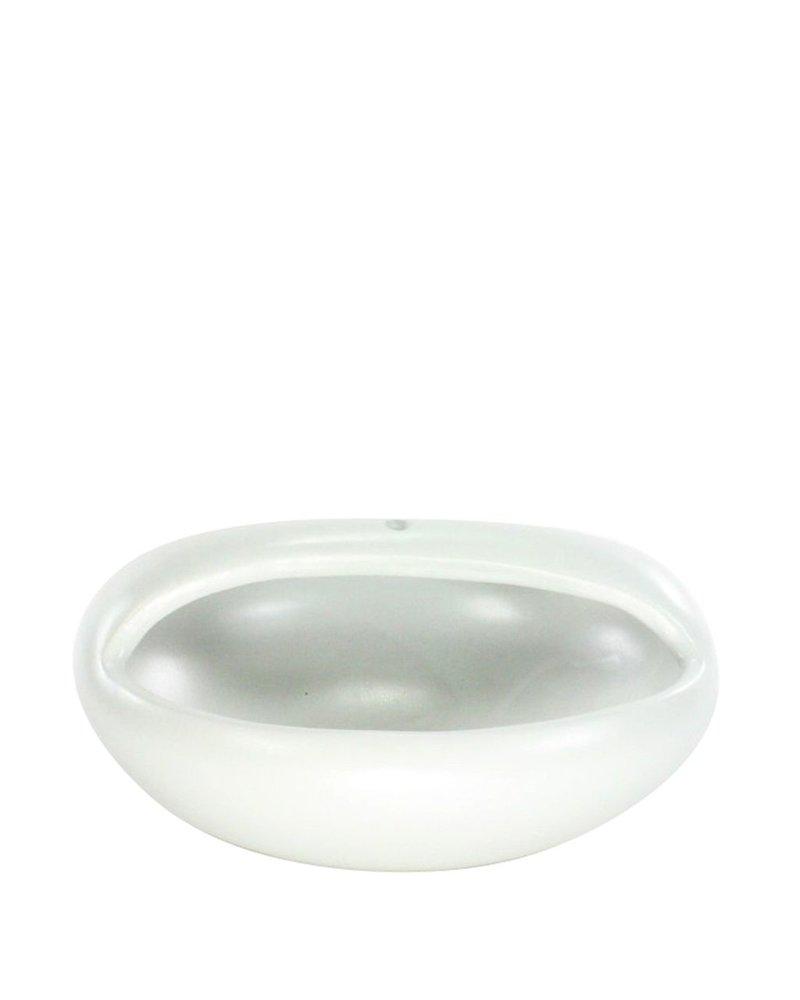 HomArt Luna Hanging Bowl - Oblong - Matte White