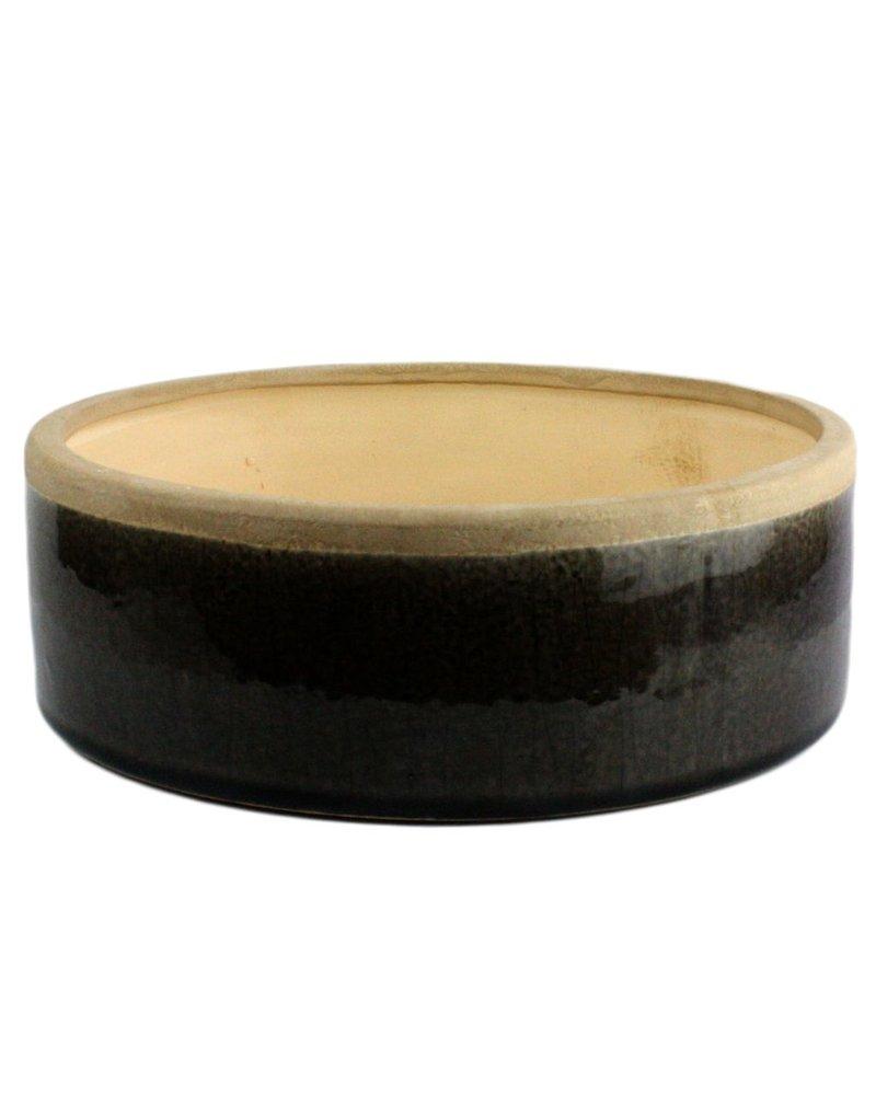HomArt Mulberry Ceramic Rnd Tray - Sm - Espresso