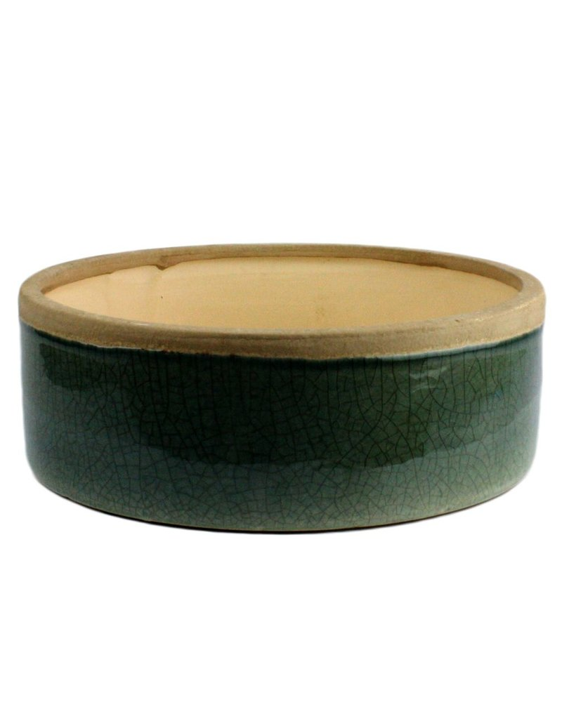 HomArt Mulberry Ceramic Rnd Tray - Sm - Teal