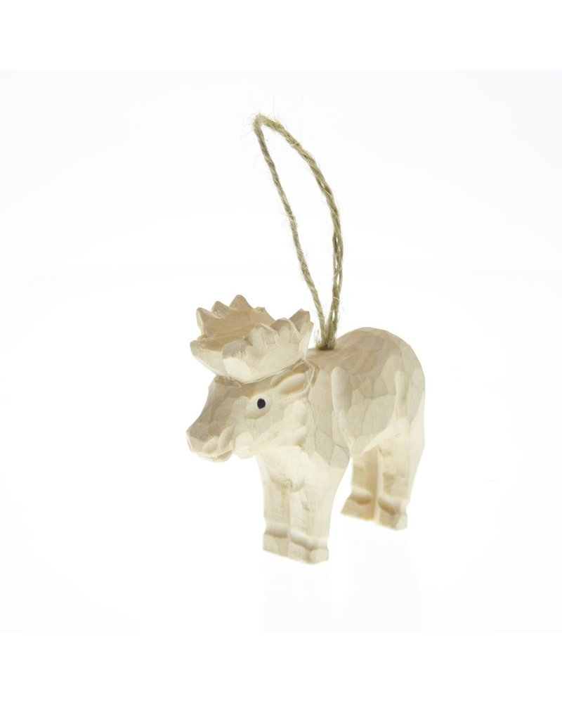 HomArt Carved Wood Ornament - Moose
