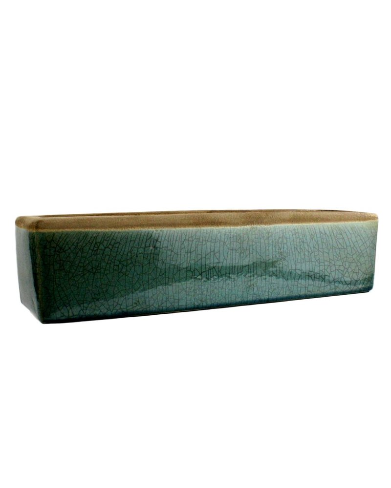 HomArt Mulberry Ceramic Rect Tray - Sm - Teal