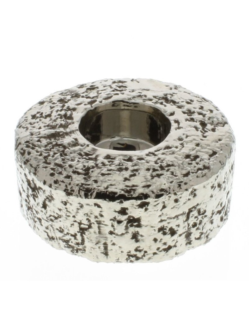HomArt Pyrite Ceramic Tealight Holder - Matte Silver