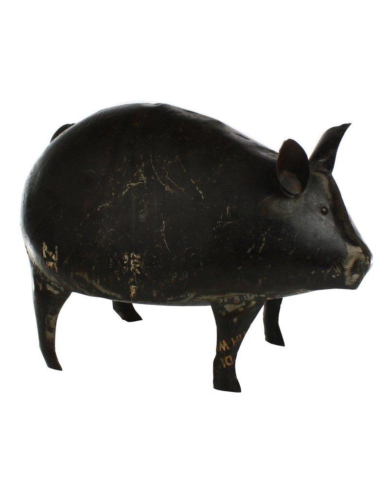 HomArt Reclaimed Metal Pig - Lrg