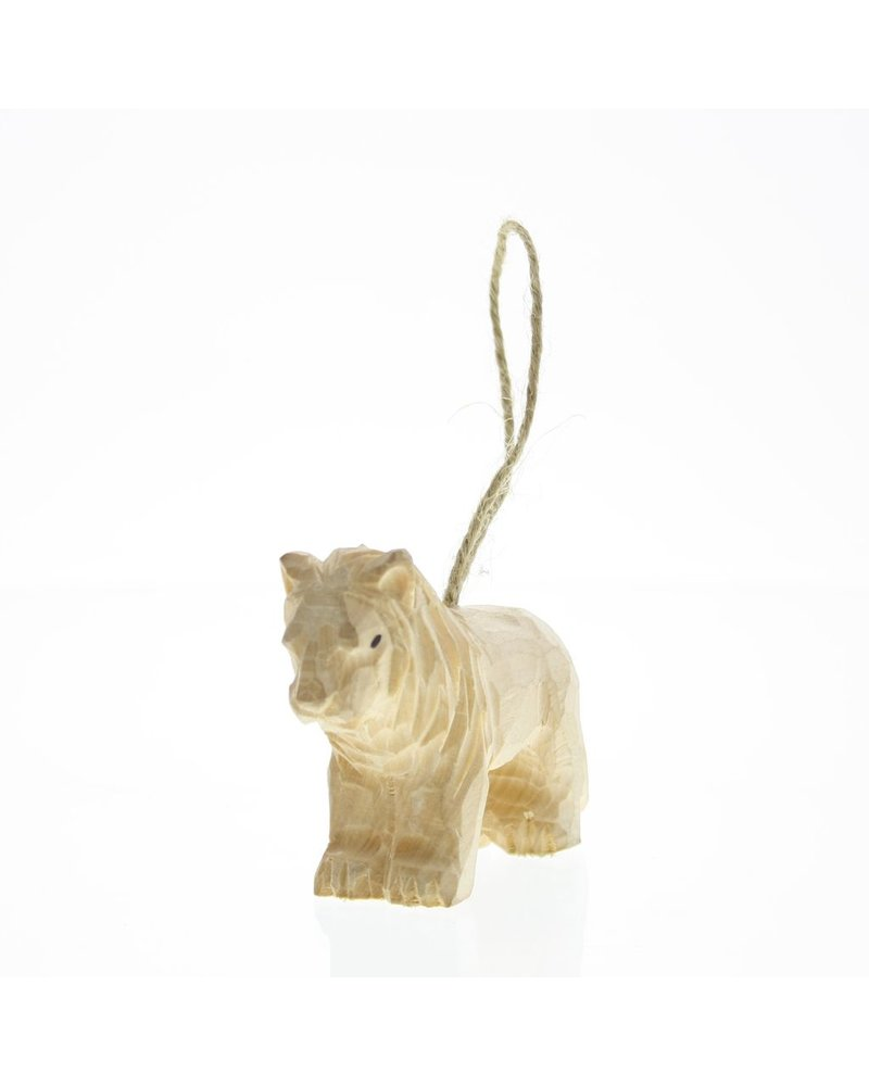 HomArt Carved Wood Ornament - Lion