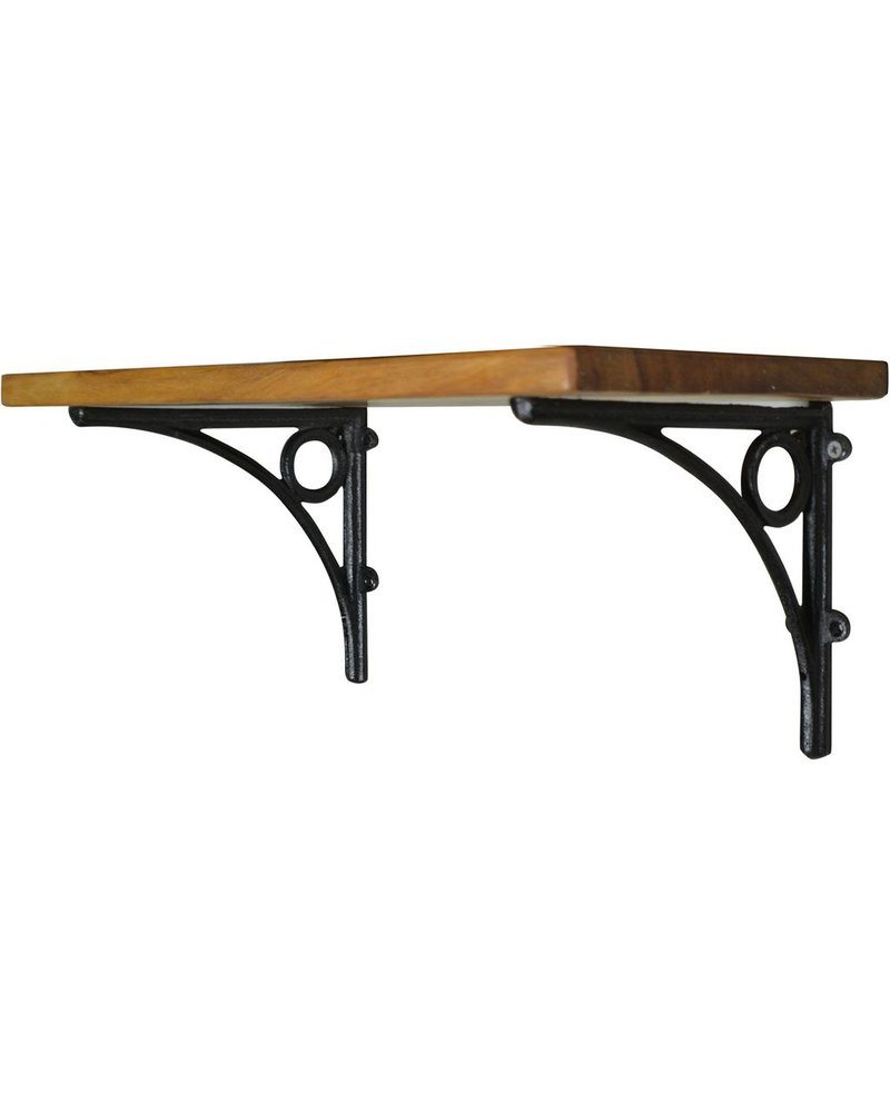 HomArt D'Orsay Shelf - 18 in - Black Brackets
