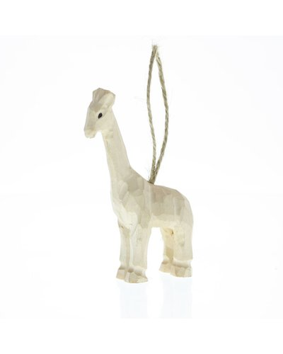 HomArt Carved Wood Ornament - Giraffe
