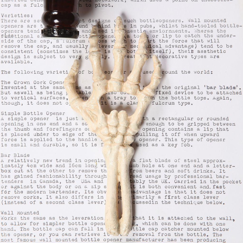 HomArt Skeleton Hand Bottle Opener - Cast Iron - AREOhome