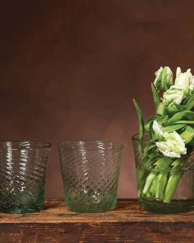 Homart Strata Glass Vase Sm Antique Green Areohome
