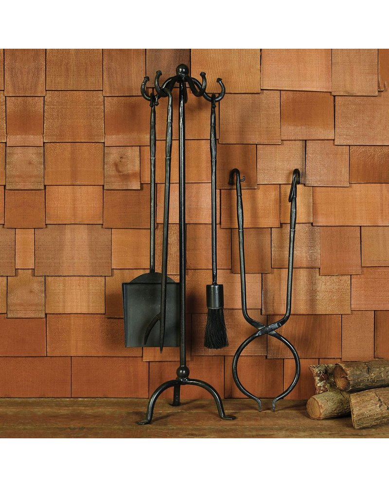 HomArt Hannover Fireplace Tools, Set of 5 - Black Waxed