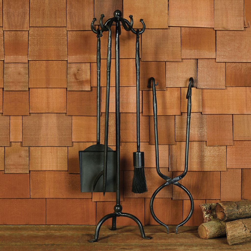 homart hannover fireplace tools set of 5 black waxed areohome