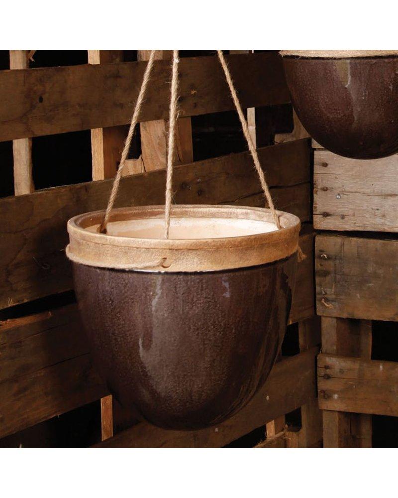 HomArt Mulberry Hanging Planter - Lrg - Espresso