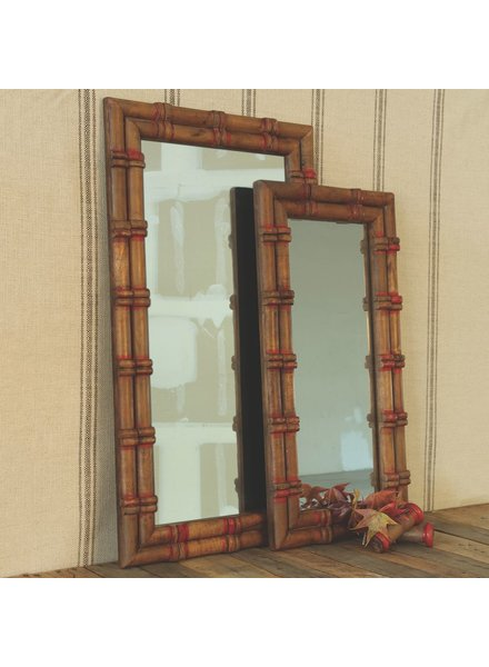HomArt Piper Wood Spool Mirror - Sm