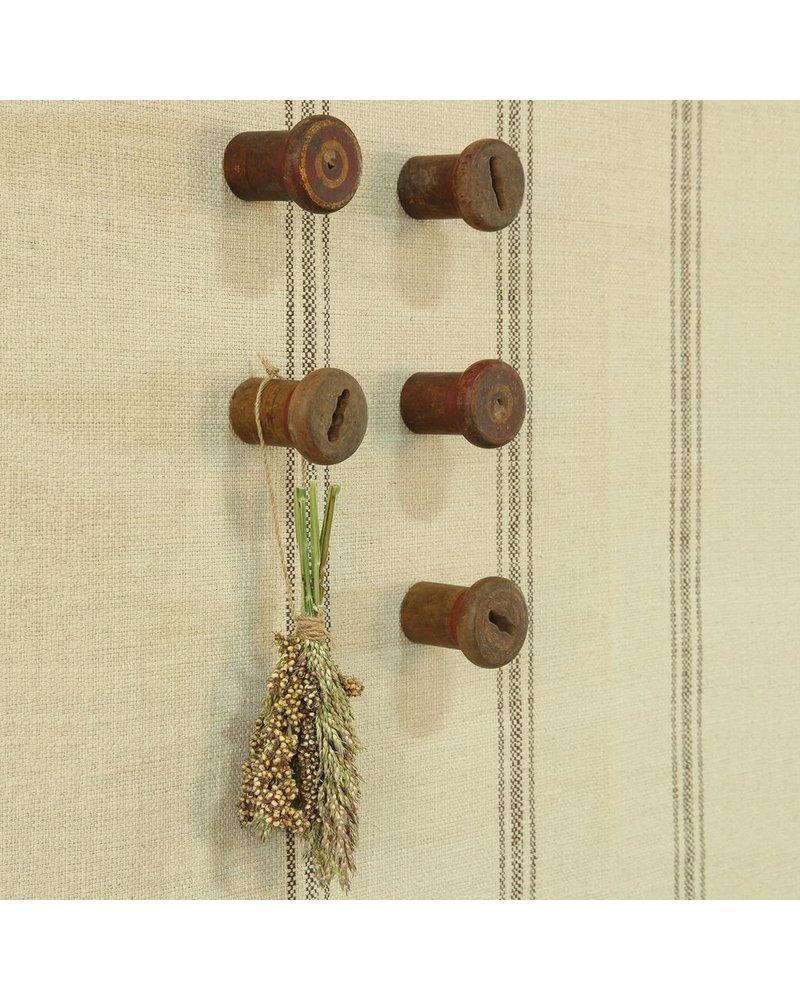 HomArt Piper Wood Spool Wall Hook