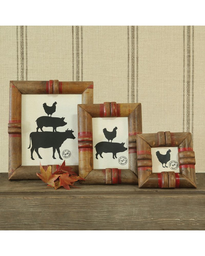 HomArt Piper Wood Spool Picture Frame 4x4