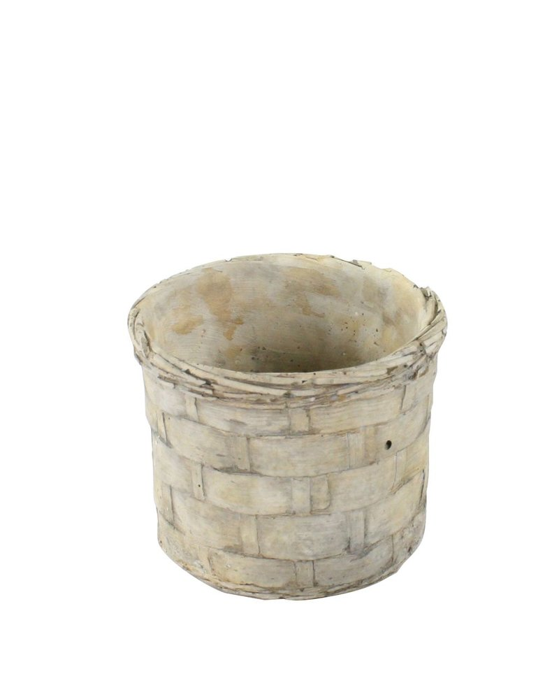 HomArt Cement Basket - Plaited Weave - Sm