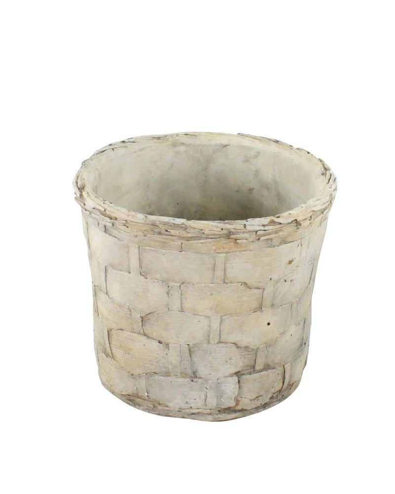 HomArt Cement Basket - Plaited Weave - Med