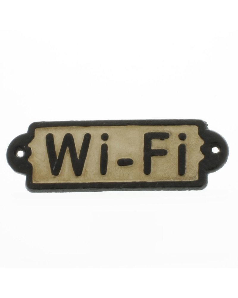 HomArt Cast Iron Sign - WiFi