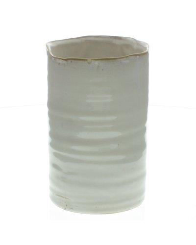 HomArt Bower Ceramic Vase - Sm - Fancy White