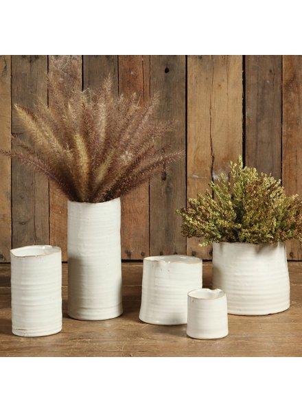 HomArt Bower Ceramic Vase - Lrg - Fancy White