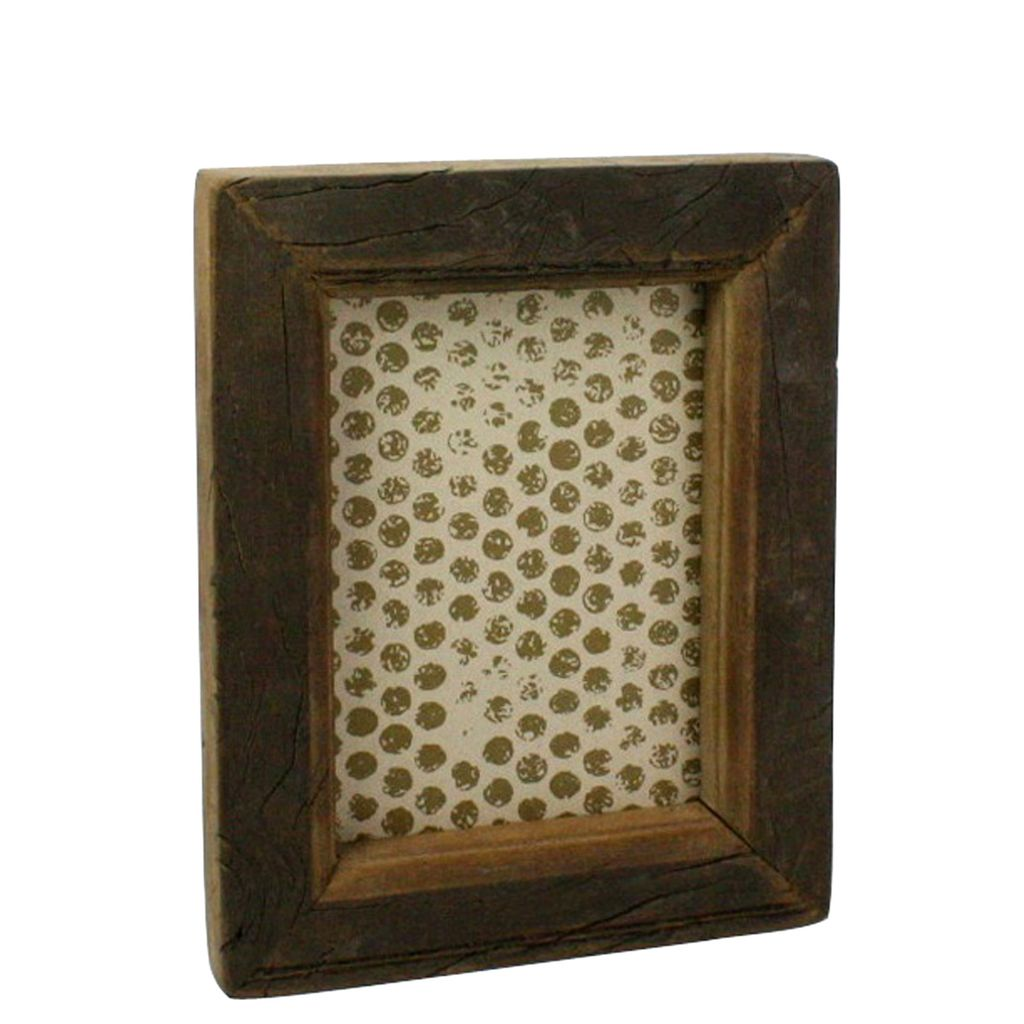 reclaimed wood picture frame 5x7 areohome. Black Bedroom Furniture Sets. Home Design Ideas