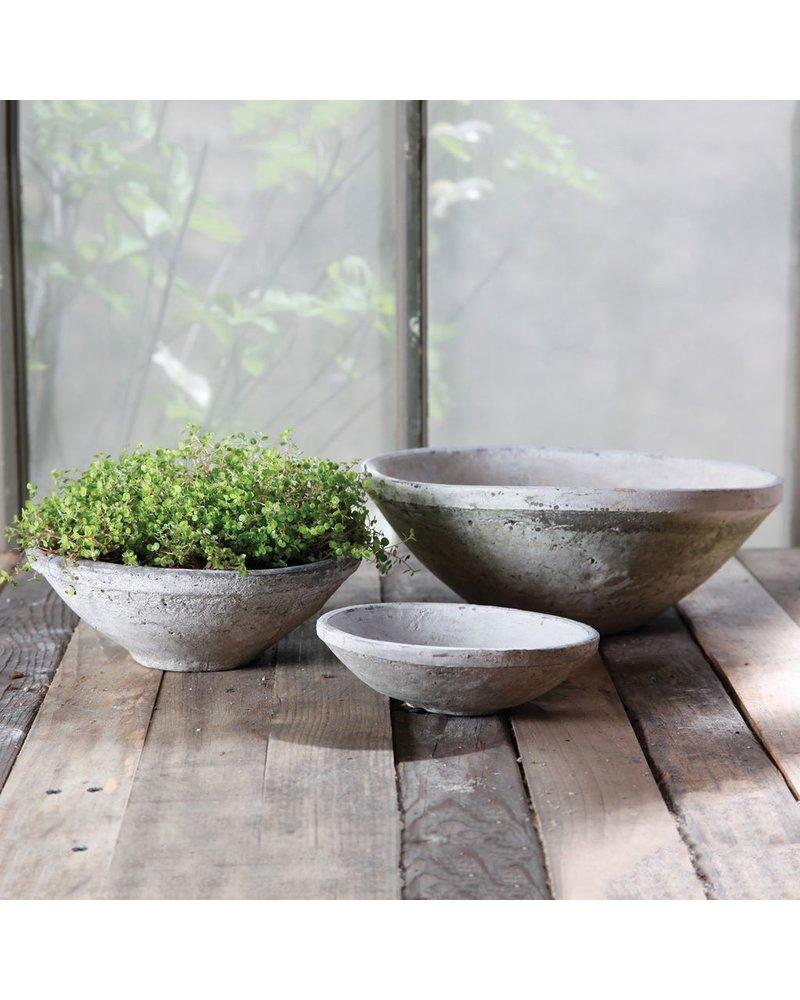 HomArt Rustic Terra Cotta Bowl - Lrg - Whitestone