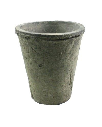 HomArt Rustic Terra Cotta Rose Pot - Sm - Moss Grey