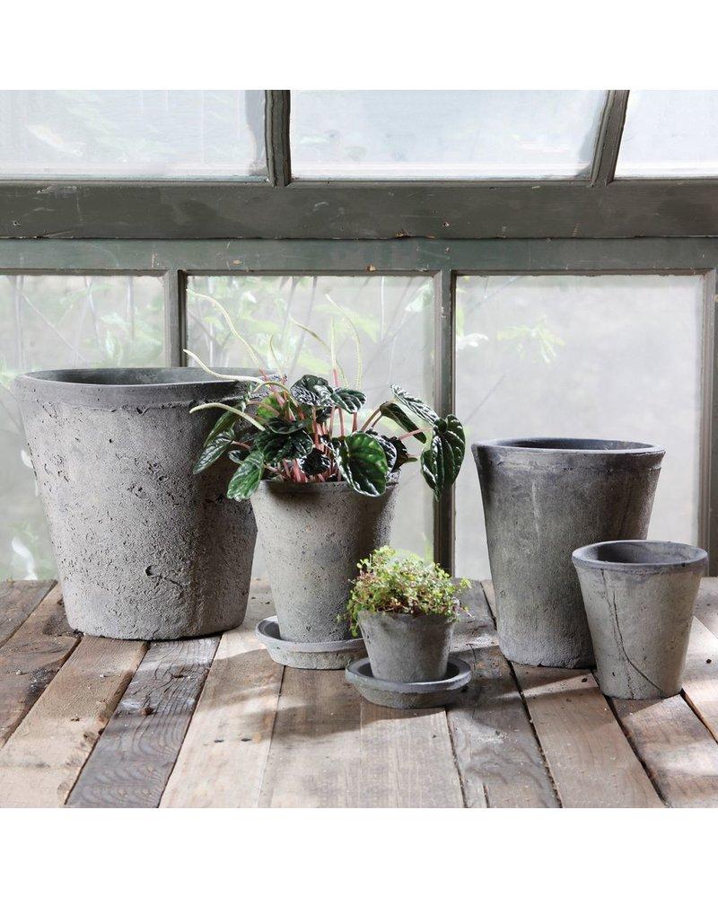 HomArt Rustic Terra Cotta Rose Pot - Med - Moss Grey