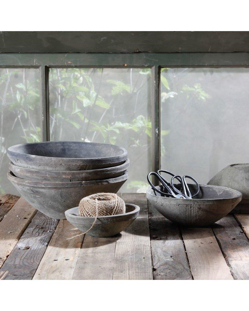 HomArt Rustic Terra Cotta Bowl - Med - Moss Grey