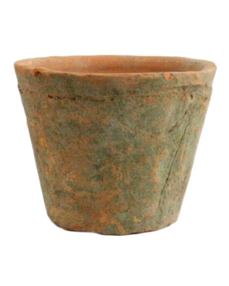 HomArt Rustic Terra Cotta Rose Pot - Petite - Antique Red