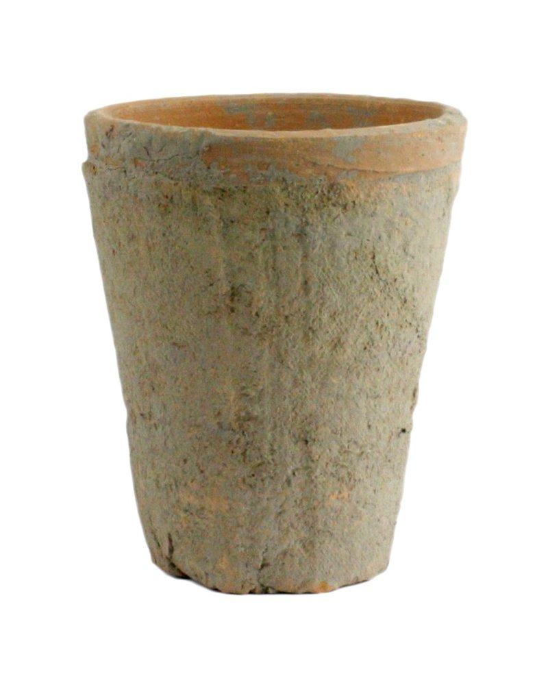 HomArt Rustic Terra Cotta Rose Pot - Sm - Antique Red
