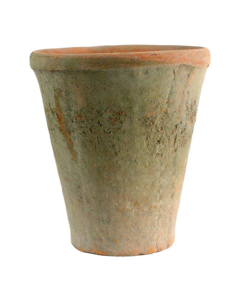 HomArt Rustic Terra Cotta Rose Pot - Lrg - Antique Red