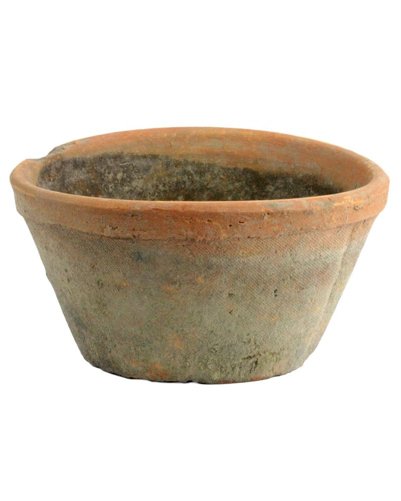 HomArt Rustic Terra Cotta Oval Pot - Sm - Antique Red