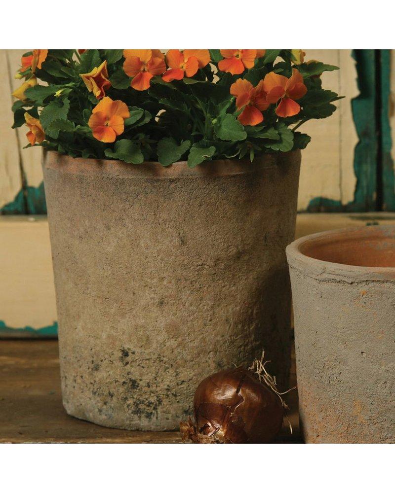 HomArt Rustic Terra Cotta Cylinder - Lrg - Antique Red